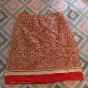 Banana Republic Silk Blend Skirt with Pockets